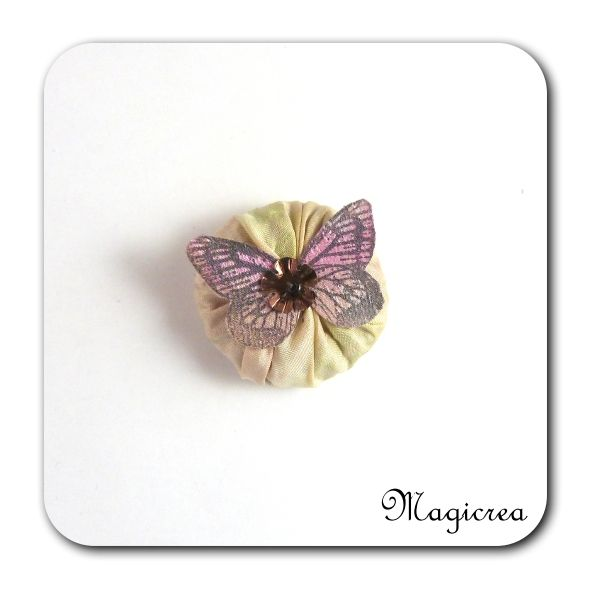 FLEUR PAPILLON SOIE - LAVANDE - FP3 - Boutique www.magicreation.fr
