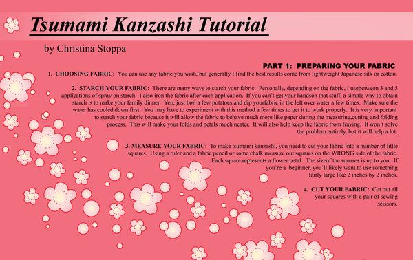 Kanzashi Tutorial - Part I by ~Kurokami-Kanzashi on deviantART