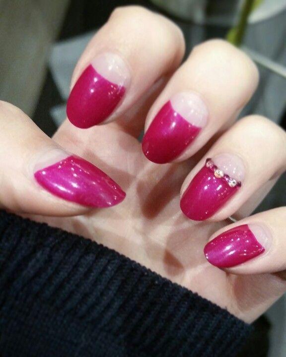 #nail #art #semilac #pink #red