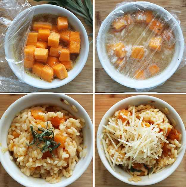 10-Minute Butternut Squash Risotto Cup