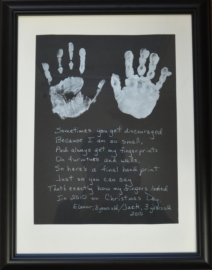 Kids handprints - I know what I am doing this winter