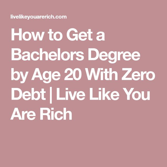 How to Get a Bachelors Degree by Age 20 With Zero Debt | Live Like You Are Rich