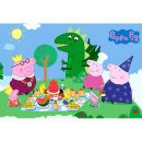 Peppa Pig Princess Picnic - Maxi Poster - 61 x A maxi poster showing childrens™ TV favourite Peppa Pig having a picnic with her family., (Barcode EAN=5028486112678) http://www.MightGet.com/january-2017-11/peppa-pig-princess-picnic--maxi-poster--61-x.asp