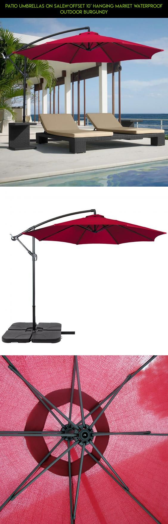 Patio Umbrellas On Sale	Offset 10' Hanging Market Waterproof Outdoor Burgundy #plans #racing #parts #fpv #kit #technology #drone #tech #on #camera #products #pools #sale #gadgets #shopping