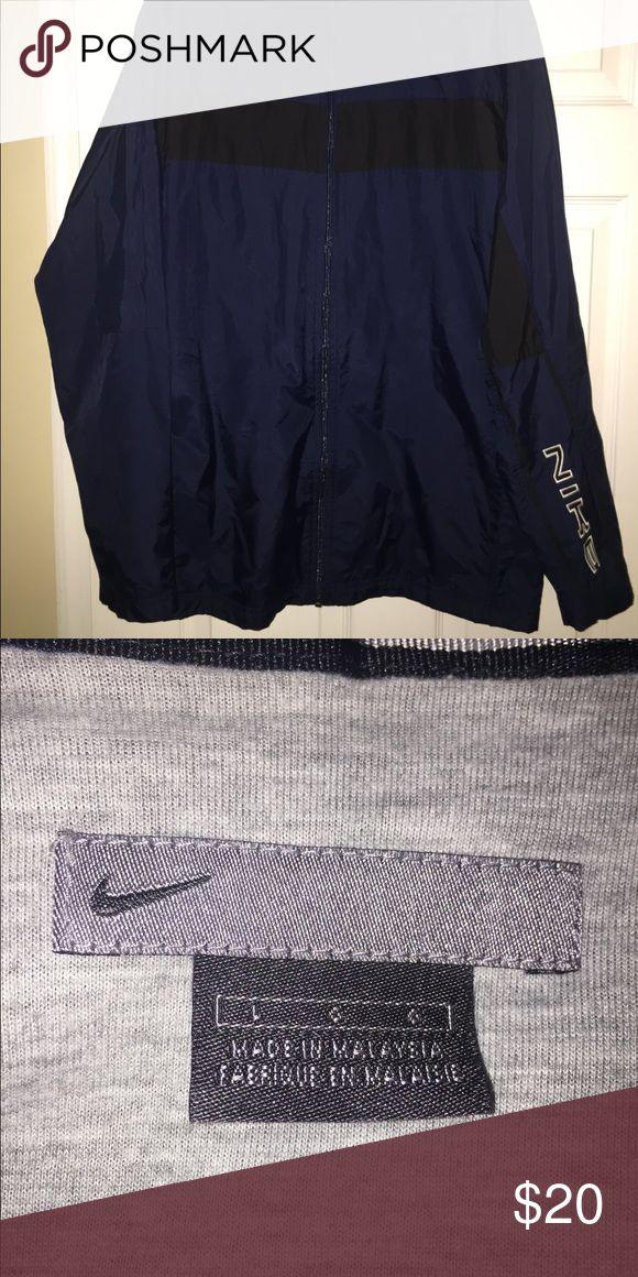 Men's Nike Rain Jacket Blue and Black Nike Rain Jacket Nike Jackets & Coats Raincoats