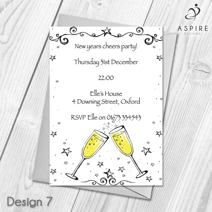 22 best Personalised New Years Eve Invitations images on Pinterest ...