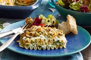 Creamy Cheddar Vegetable Lasagna recipe