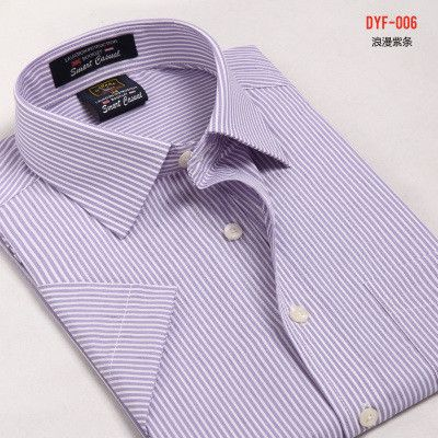Summer New Arrival Short Sleeve Shirt Social Male 21 Colors Formal Striped  Shirt Men 2015 Breathable Oxford Dress Shirt for Men