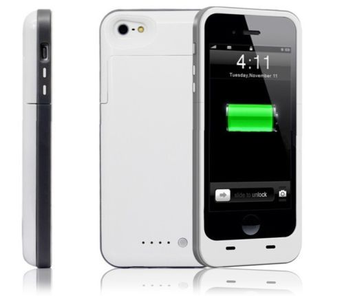 White mobile charger case for iphone 6 6s mobile phones