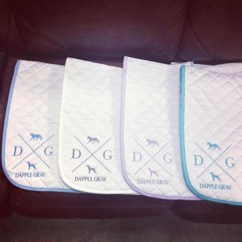 Dapple Gray/Ogilvy Baby Pad- NEW COLORS!!!  Ogilvy Equestrian Approved!  Equine, Half Pad, Saddle Pad, Helmet, Saddle, Fashion, Style, Comfort, Equipment, Tack, Horse, Pony, Gray, Chestnut, Bay, Black, Horse Show, Show Jumping, Equitation, Pony