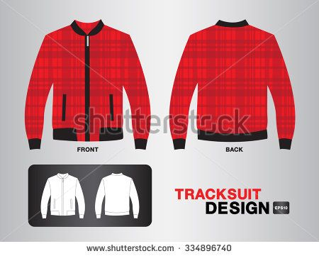 red plaid tracksuit design vector illustration