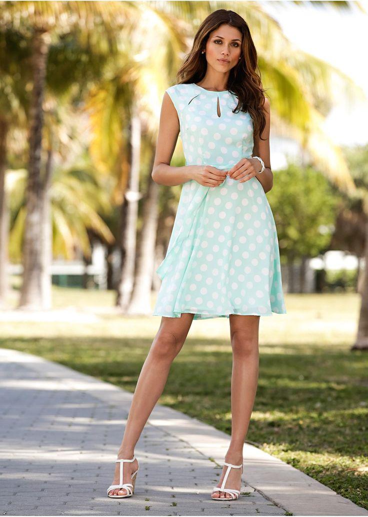 Sukienka w groszki Elegancka sukienka • 109.99 zł • bonprix