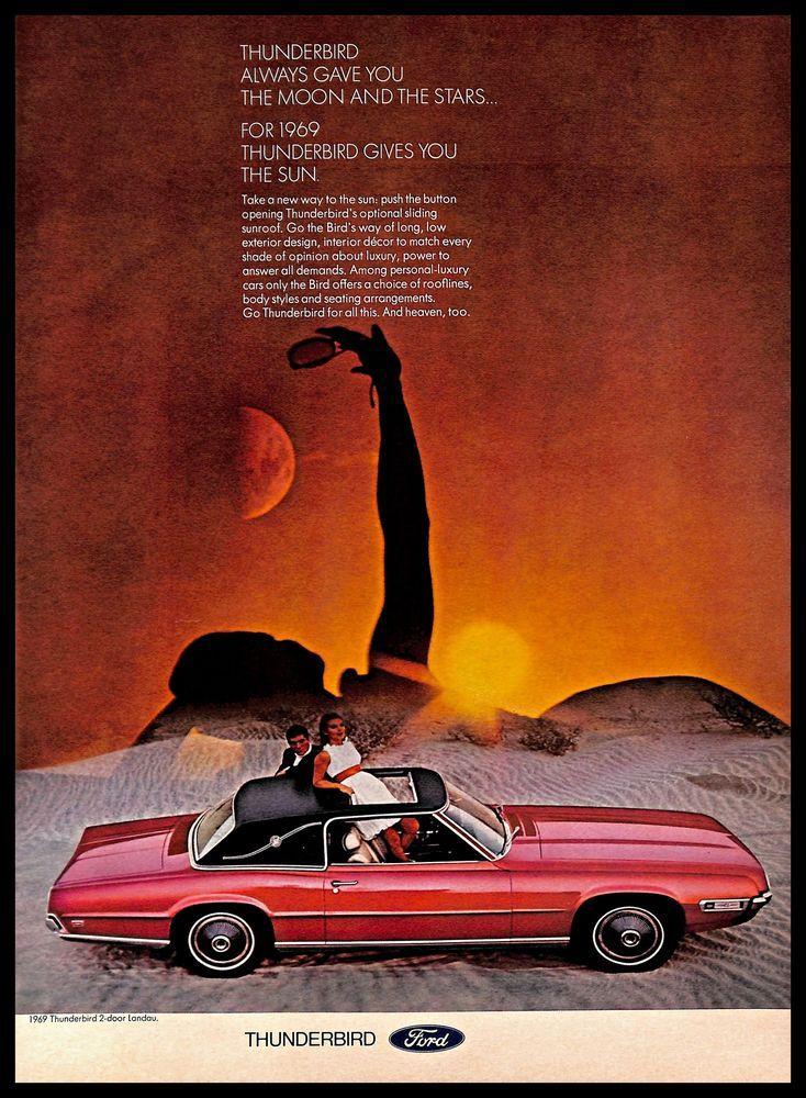 1968 Ford Thunderbird Vintage Print Ad American Personal Luxury