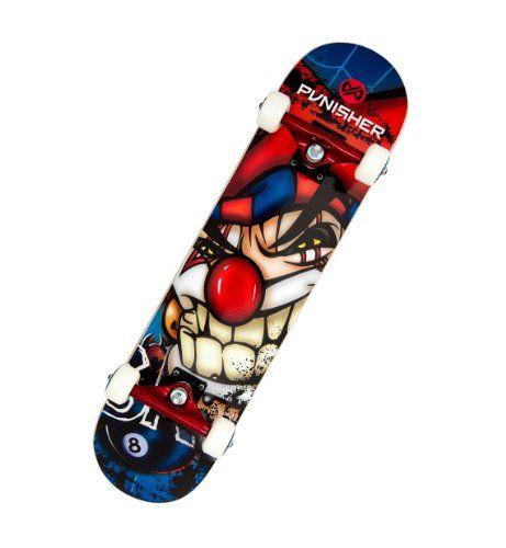 Cheapest Punisher Jester Complete Skateboard, Blue, 31-Inch - http://kcmquickreport.com/cheapest-punisher-jester-complete-skateboard-blue-31-inch/