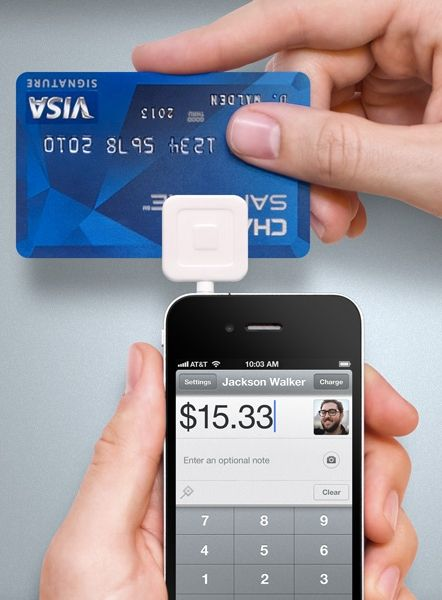 DOWNLOAD THIS AT SQUAREUP.COM FOR FREE TO TURN YOUR SMART PHONE INTO A CREDIT CARD SWIPER!