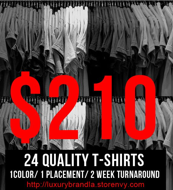Custom Screen Printed T-shirts for Schools, Business, Fundraisers, & Special Interest Groups 12pcs min $210 via @shopseen