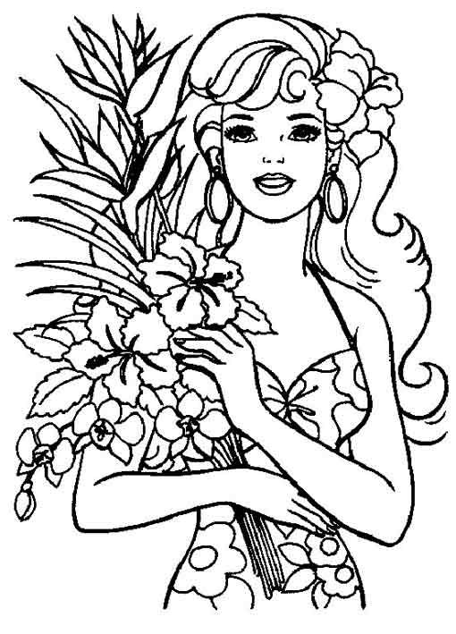 free barbie princess coloring sheet