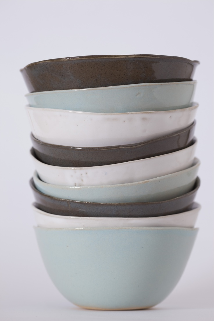 stack of noodle bowls - Clay Art by Sonja Moore