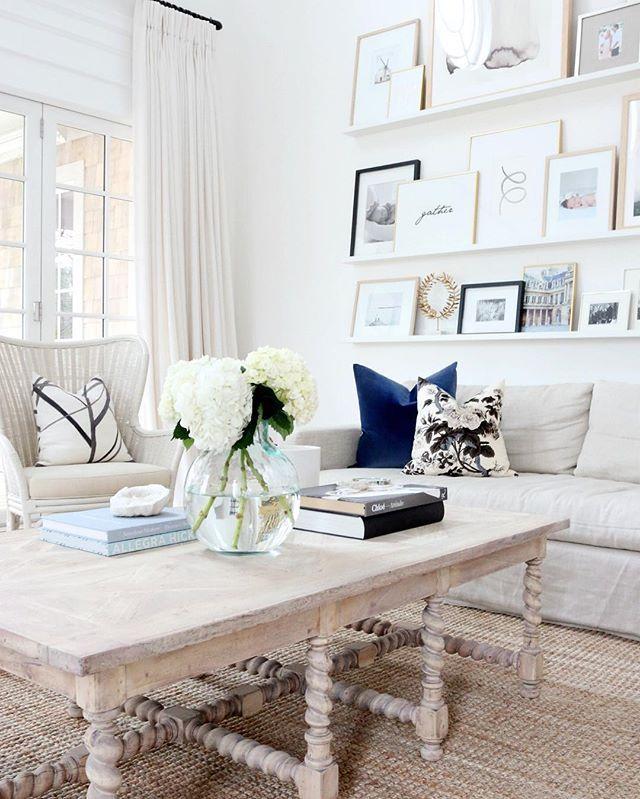 Our #studiomcgeehc navy velvet pillow in @monikahibbs dream of a living room.