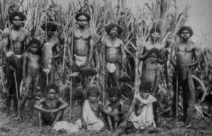 early aborigine A photograph showing Aboriginal people in the early years of…