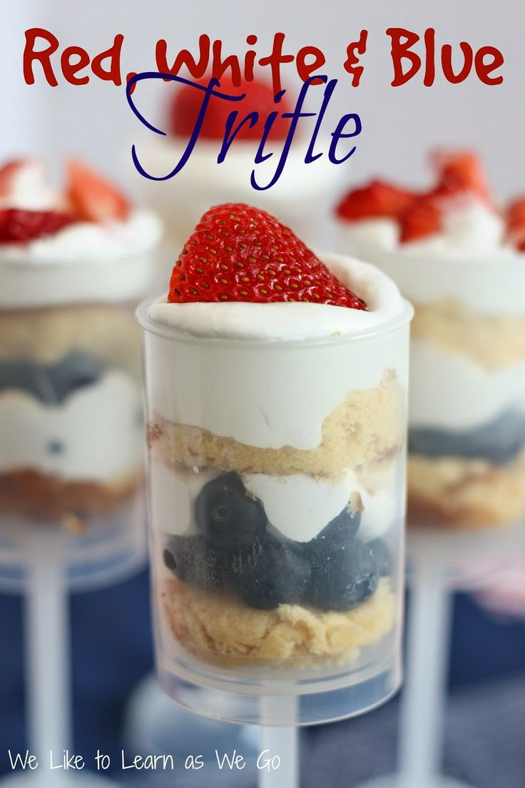 Red White &amp Blue Trifle  A Yummy Berry Dessert Perfect For Summer