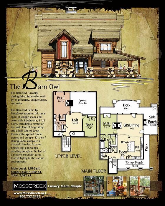 Barn owl house plan moss creek for Moss creek home designs