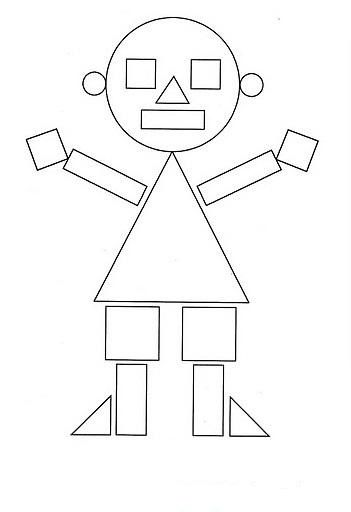 Bild Geometrie Kinder | Kindergarten Vorschule Mathe | Mathe Formen Figuren