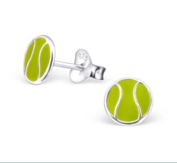 Tennis girl Sterling silver tennis earrings