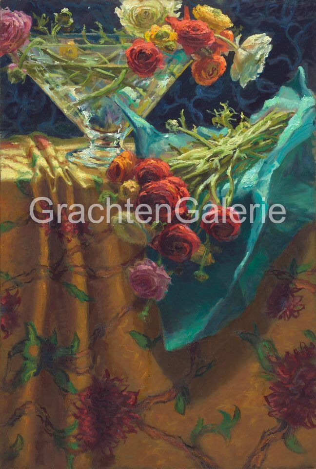 Ranonkels keimpe van der kooi stilleven schilderij keimpe van der kooi pinterest van - Schilderij kooi d trap ...