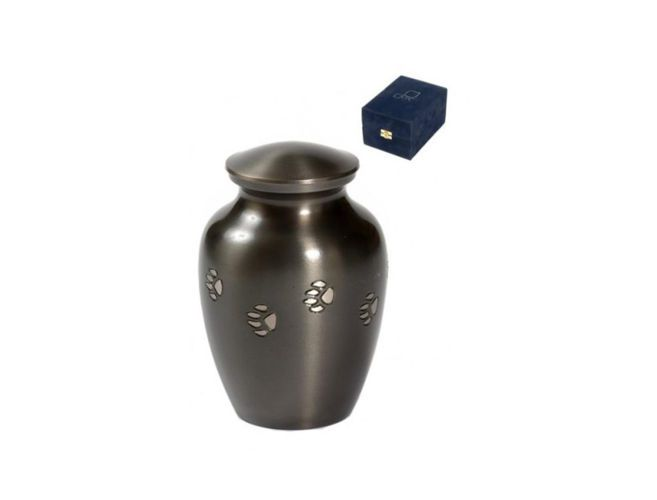 Paw Print Urn - Pet Caskets & Urns - Dog and Cat Memorials and Plaques