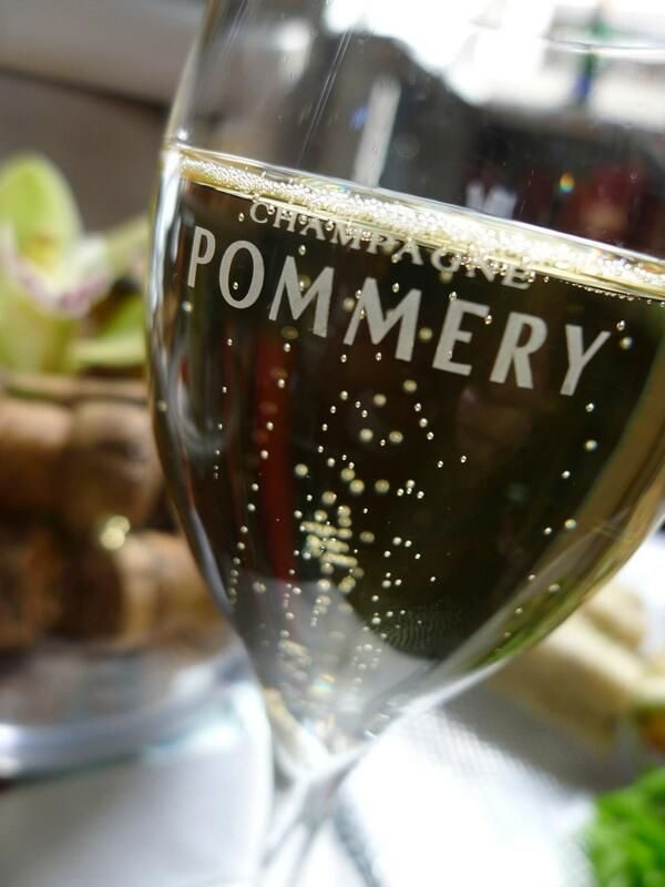 Champagne sipping at the Pommery Champagne Cafe Bar withing the beautiful Signet Library