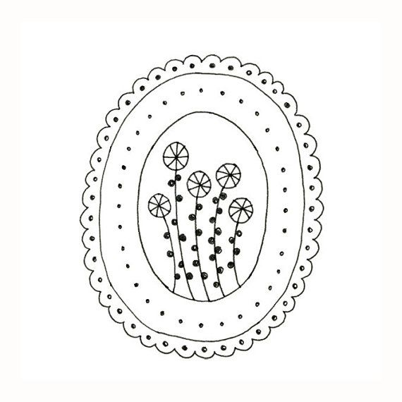 Embroidery Pattern Flowers Digital Downloadable PDF