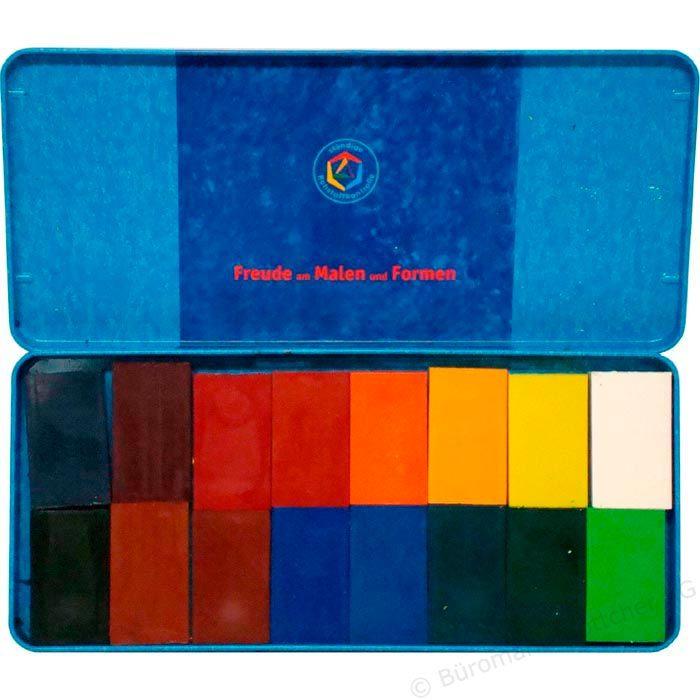 Stockmar 35000 16 Wachsmalblöcke farbig sortiert