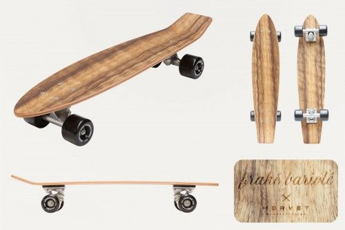 Skateboard By Hervet Manufacturier. products Made in France. Available on Ambassade-Excellence e-shop : Free delivery worldwide. Everything French & Excellent. #MadeInFrance
