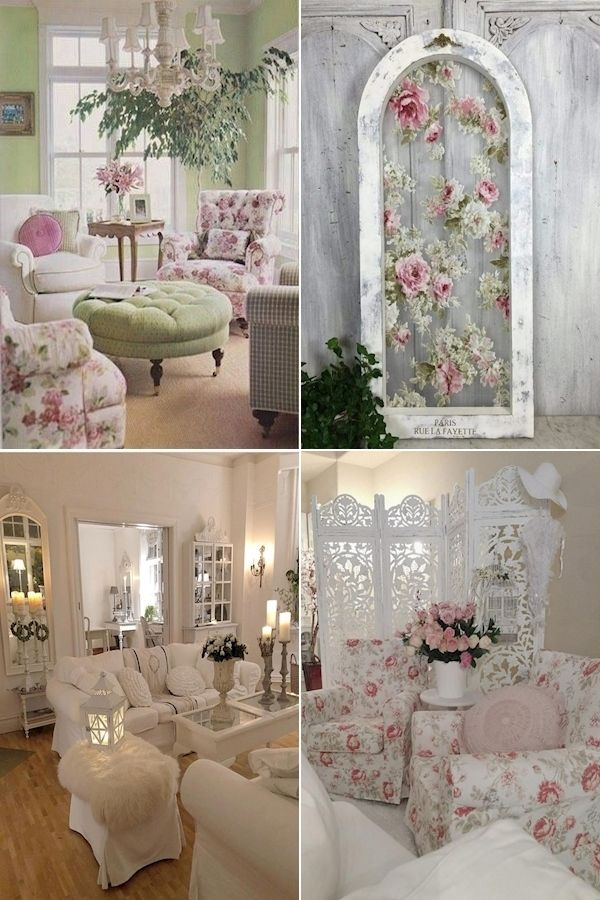 50++ French shabby chic interiors trends
