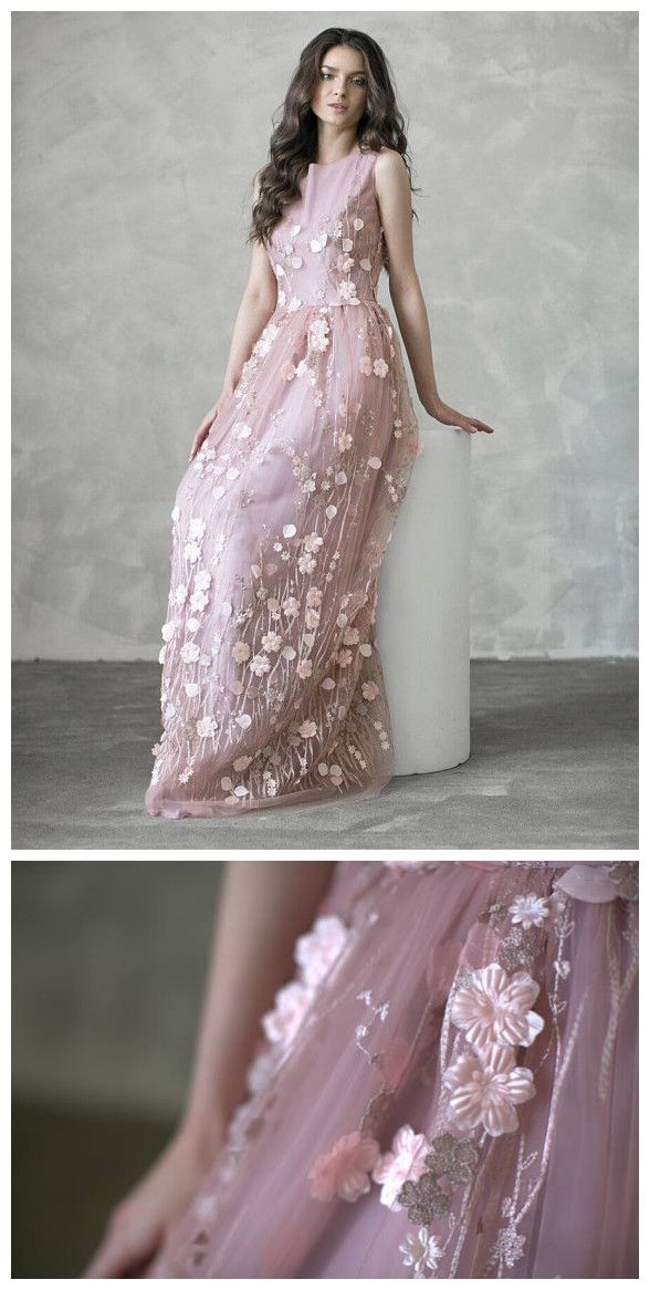 e29a92b7b2a8 Chic A-line Prom Dresses Long Scoop Modest Pink Applique Cheap Long Prom  Dress AMY047 | Ball gowns | Dresses, Prom dresses, Blush bridesmaid dresses  long