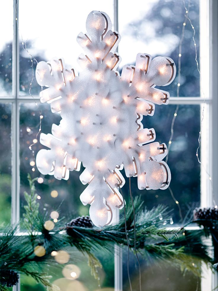 Snowflake Window Light | Cox & Cox