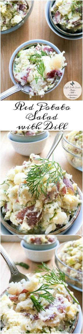 Red Potato Salad with Dill has crisp celery, onion, Dijon mustard and eggs, giving it a satisfying crunch and flavor. This classic and cool Summer salad feeds a crowd, making it perfect for BBQs, potlucks or a recipe to last during the week.