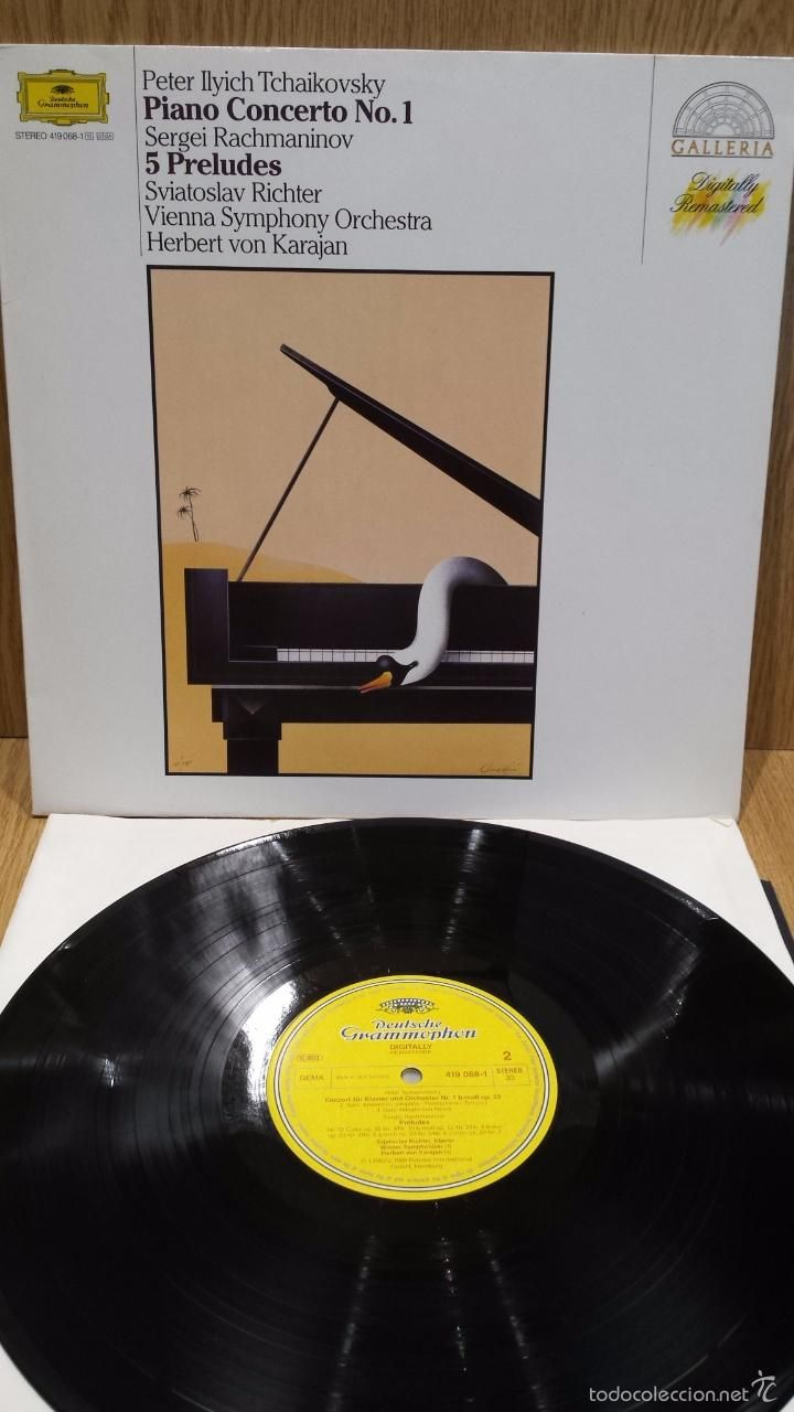 TCHAIKOVSKY / RACHMANINOV - PIANO CONCERTO / 5 PRELUDES. LP / GRAMMOPHON / LUJO. ****/****