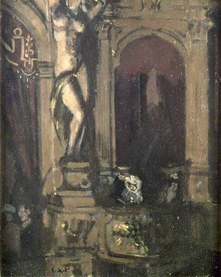 Walter Richard Sickert, Gallery Box at the New Bedford Music Hall, London,1906–1907
