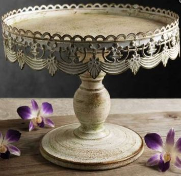 French Vintage Inspired Cake Stand