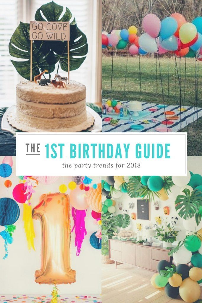 First Birthday Trends For 2018 In 2020 1st Birthday Party For