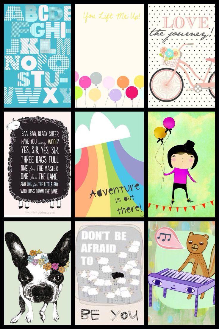 Gratis plakater til børneværelset