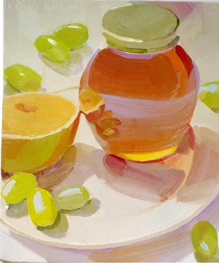 karen o'neil art | Karen O'Neil's oil paintings of glassware, china and fruit have ...