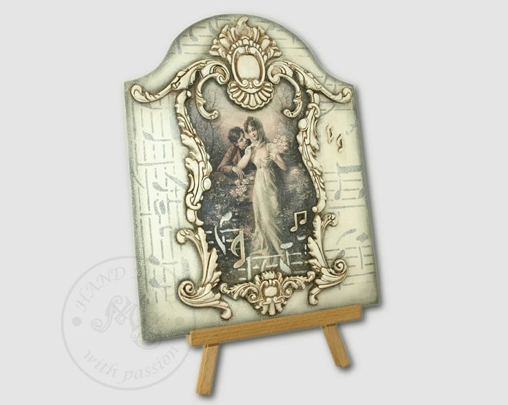 The vintage style wooden pictures decorated using decoupage method with the ornaments. It was special order for one of the customer.