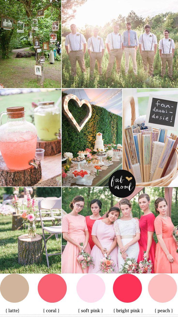 Rustic Vintage Wedding { Coral,peach,pink } | http://www.fabmood.com/rustic-vintage-wedding/