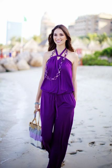 @roressclothes closet ideas #women fashion Purple Jumpsuit for Women
