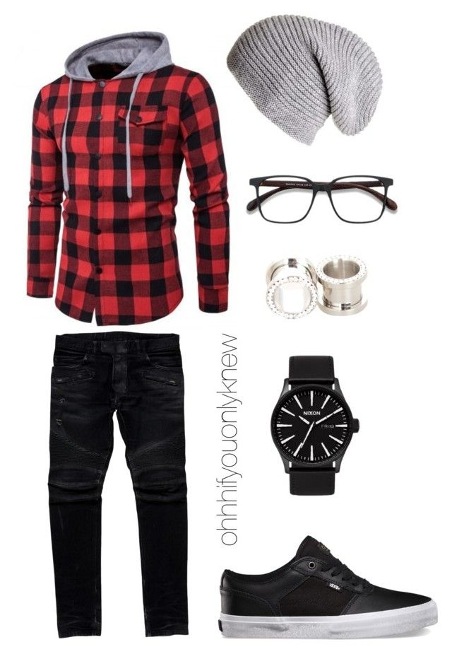 """Untitled #243"" by ohhhifyouonlyknew on Polyvore featuring Black, EyeBuyDirect.com, Balmain and Hot Topic"