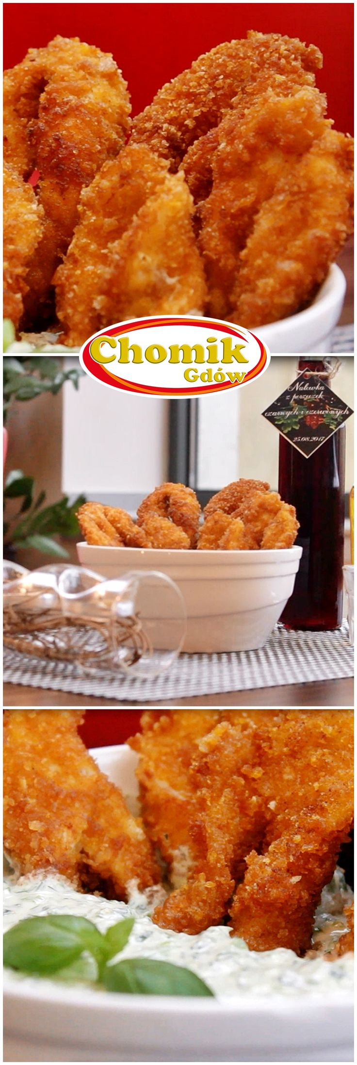 Crispy angel wings - made from chicken - with a herbal dip