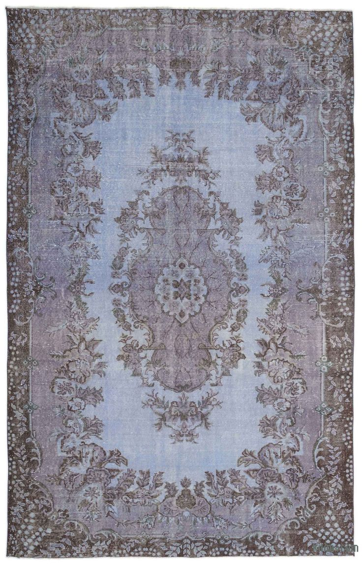This Over Dyed Turkish Vintage Rug Is A Celebration Of Both Past And Present